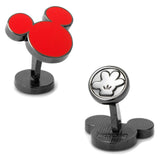 Red Mickey Silhouette Cufflinks
