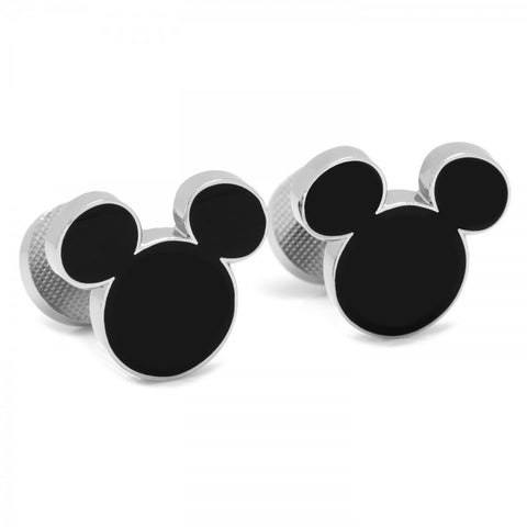 Black Mickey Silhouette Cufflinks