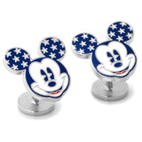 Vintage Stars and Stripes Mickey Mouse Cufflinks