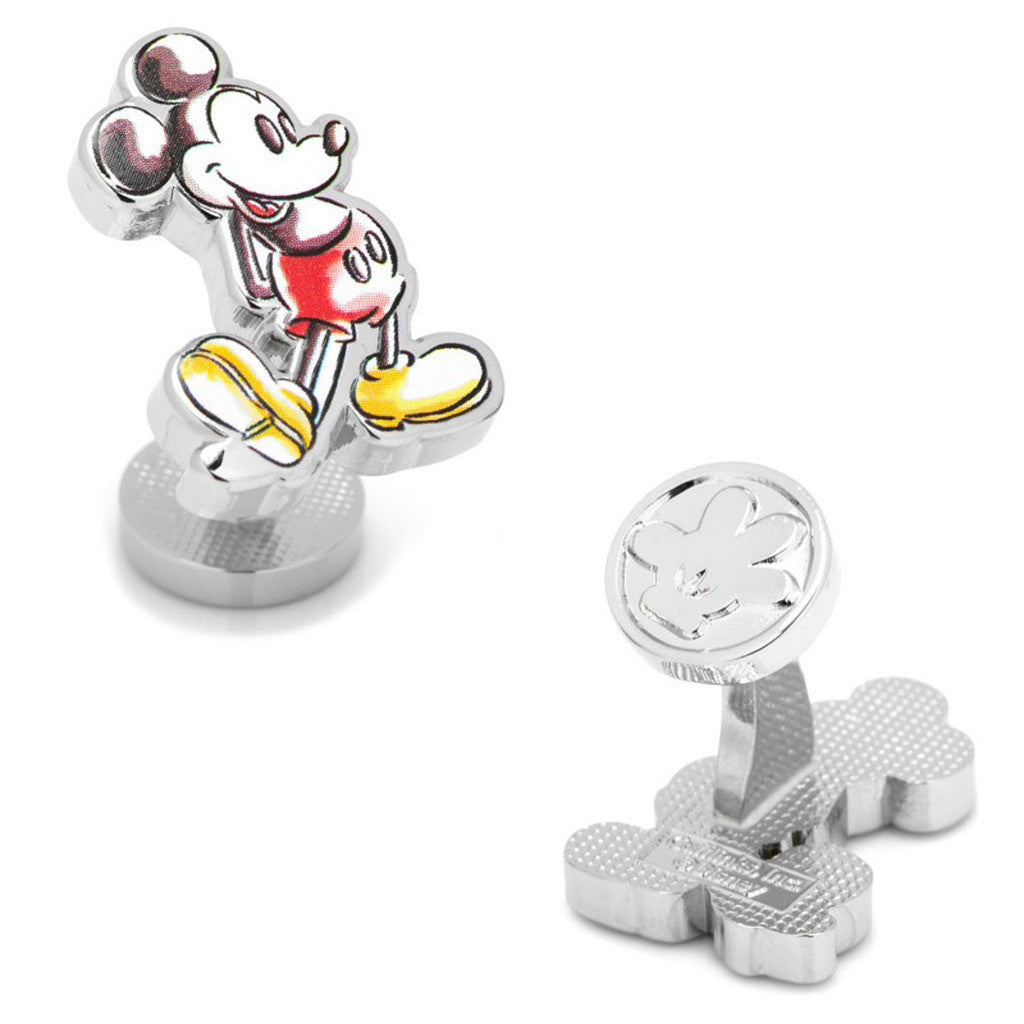 Watercolor Mickey Mouse Cufflinks