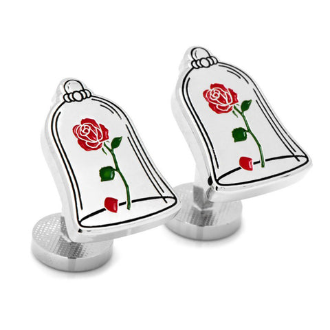Beauty and the Beast Enchanted Rose Cufflinks
