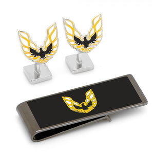 Pontiac Firebird Logo Cufflinks and Money Clip Gift Set