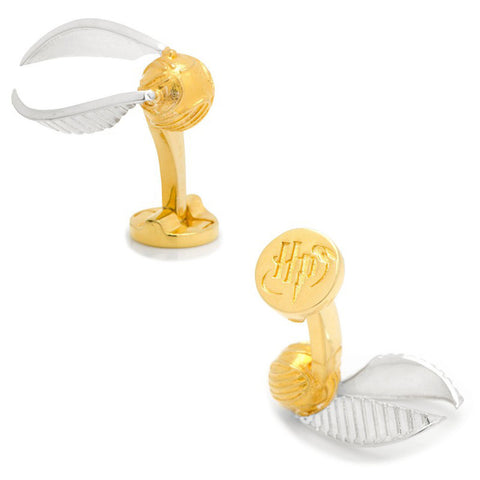 3D Golden Snitch Cufflinks