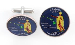 Hawaii State Coin Cufflinks