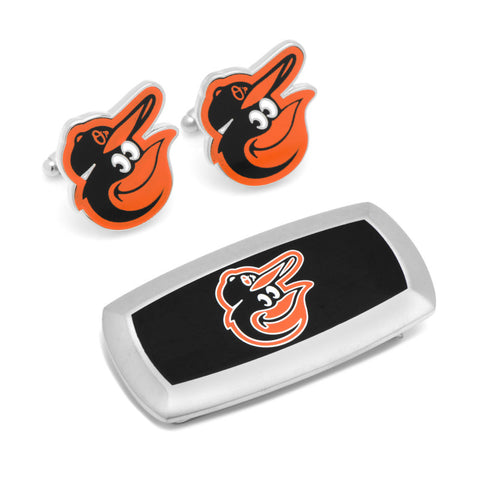 Baltimore Orioles Cufflinks and Cushion Money Clip Gift Set