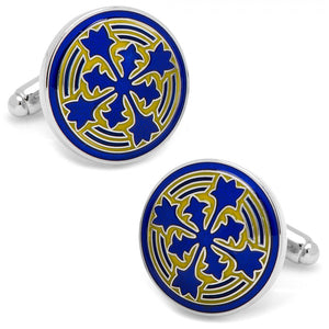 Blue Firenze Petal Cufflinks