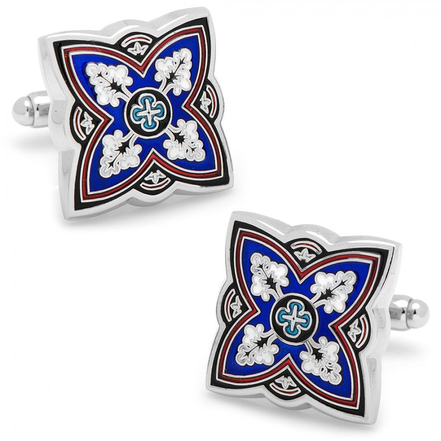 Blue Spanish Bloom Cufflinks