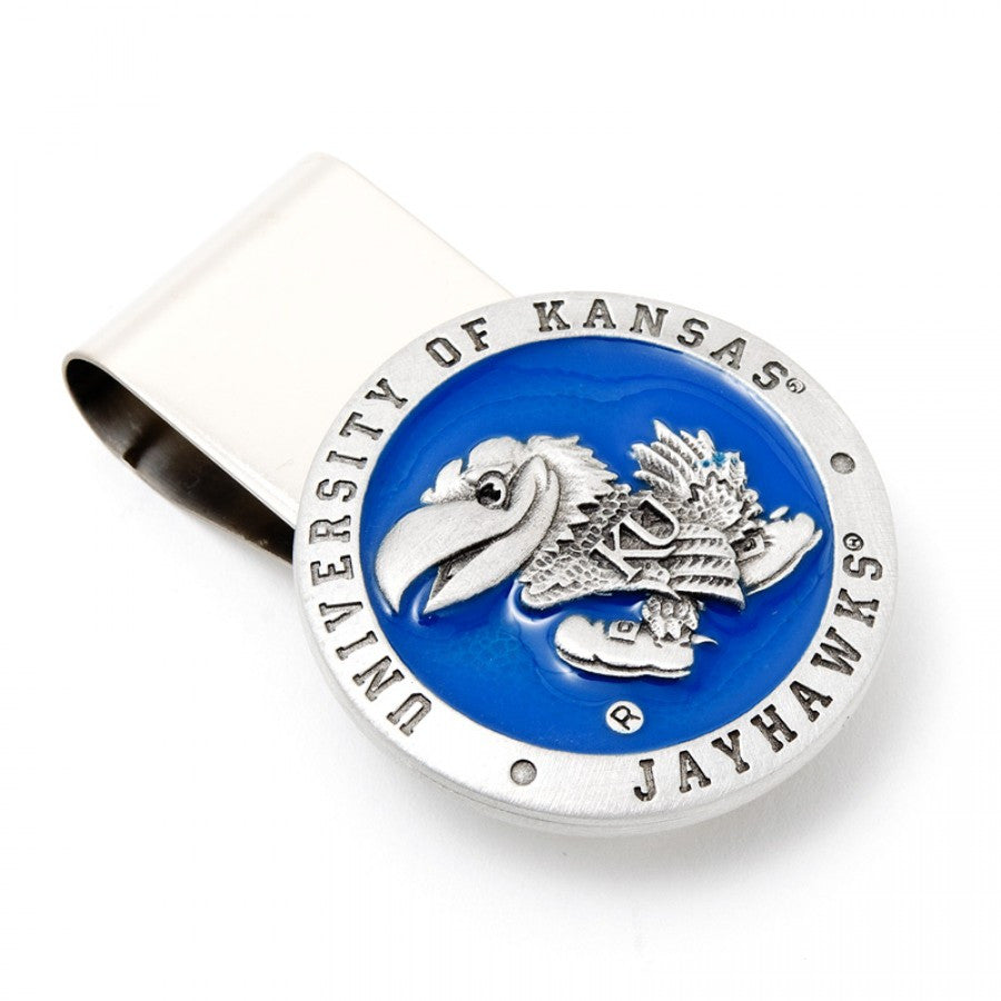 University of Kansas Jayhawks Pewter Money Clip