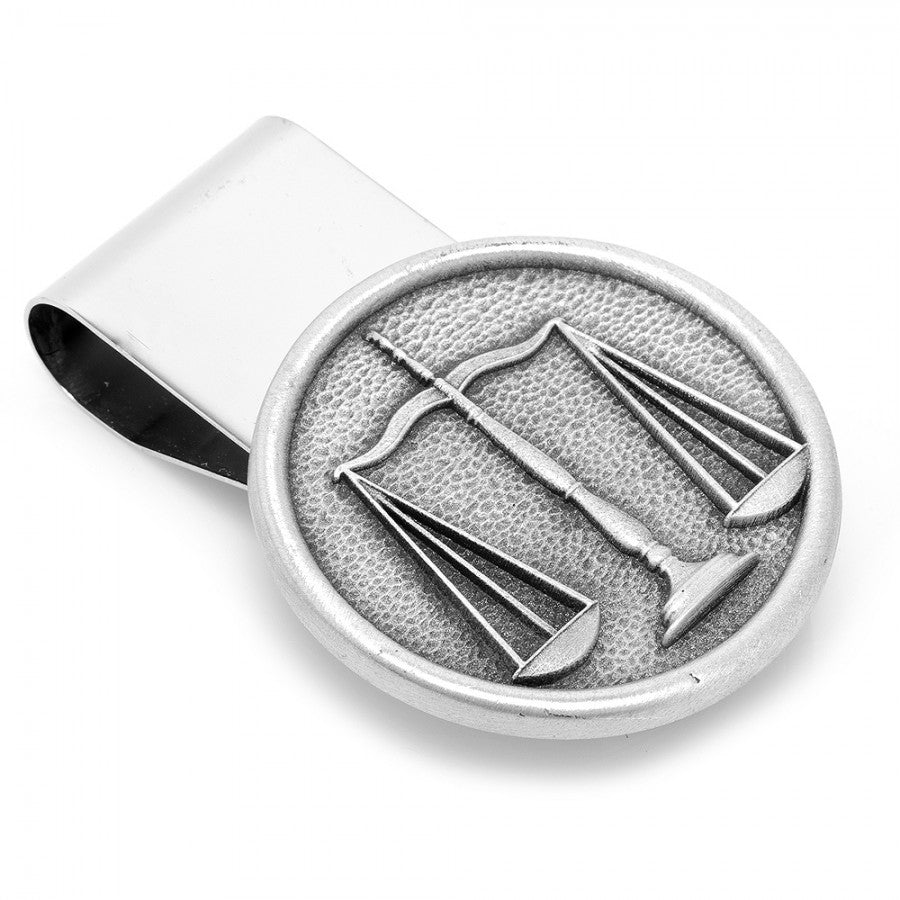Pewter Scales of Justice Money Clip