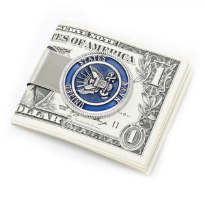 Pewter U.S. Navy Money Clip