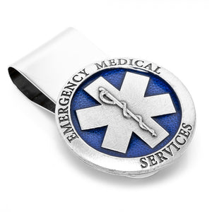 Pewter Emergency Medical Services (E.M.S) Money Clip