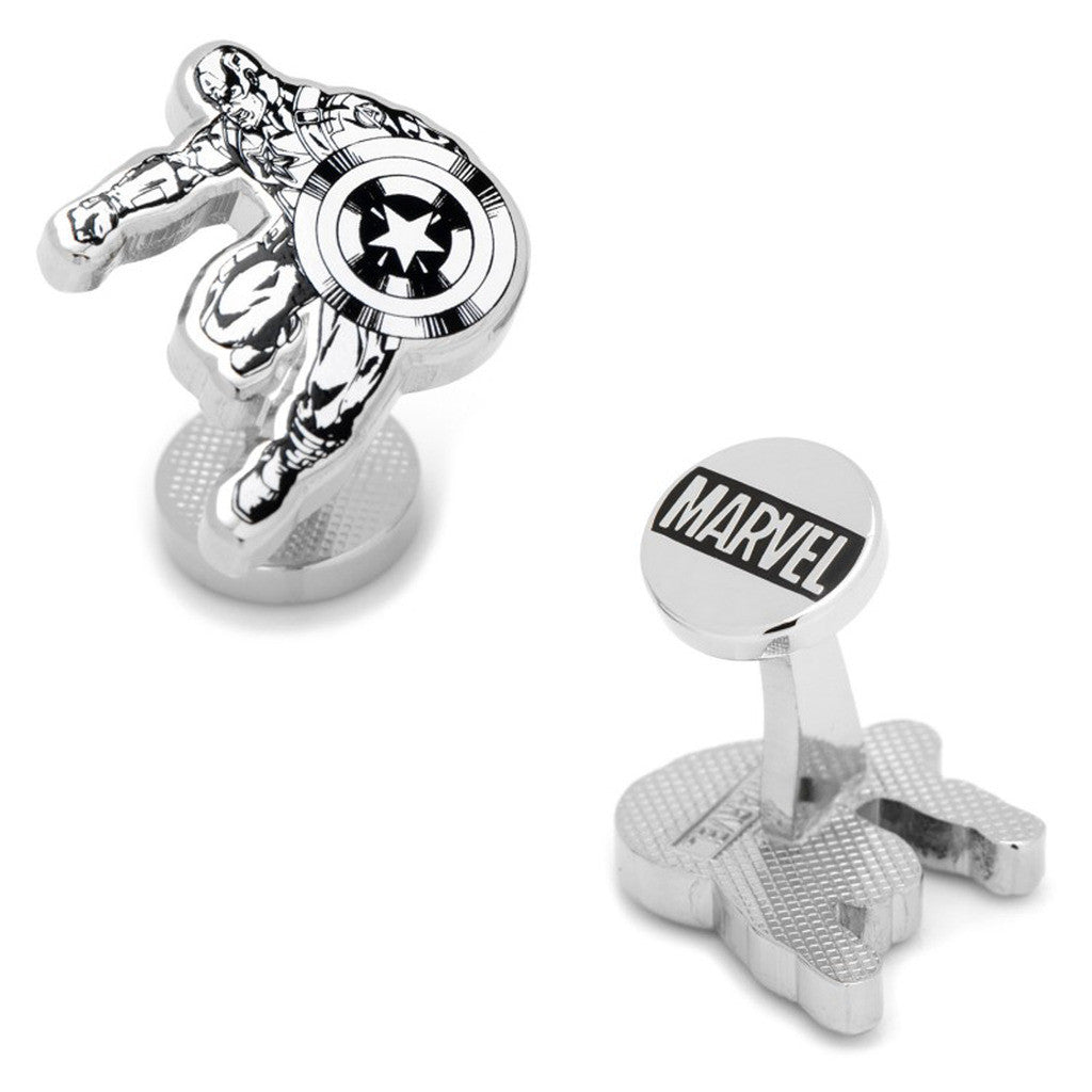 Captain America Ink Action Cufflinks