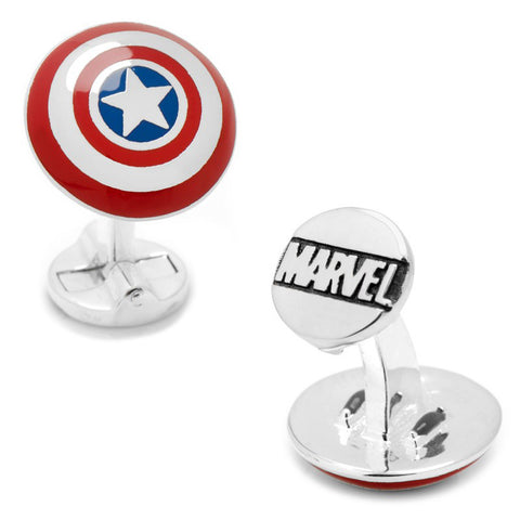 Silver Superman Silhouette Cufflinks