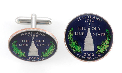 Maryland State Coin Cufflinks