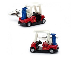 Enamel Golf Cart Cufflinks