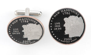 New Hampshire State Coin Cufflinks