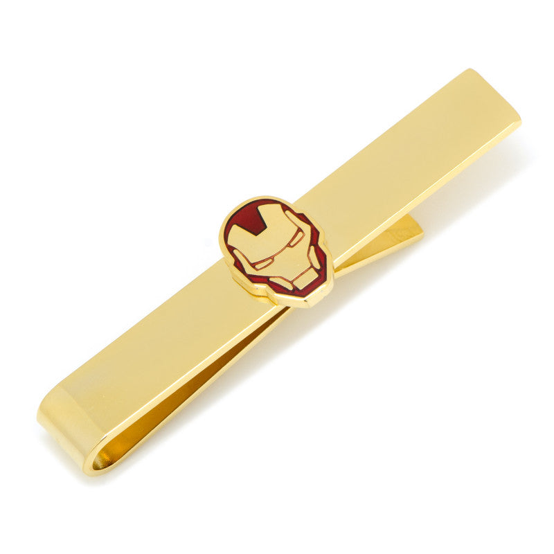Gold Plated Iron Man Tie Bar