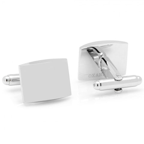 Curved Stainless Steel Cufflinks