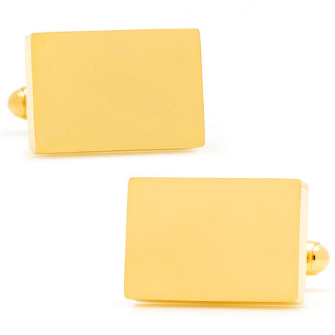 Stainless Steel Gold Block Cufflinks