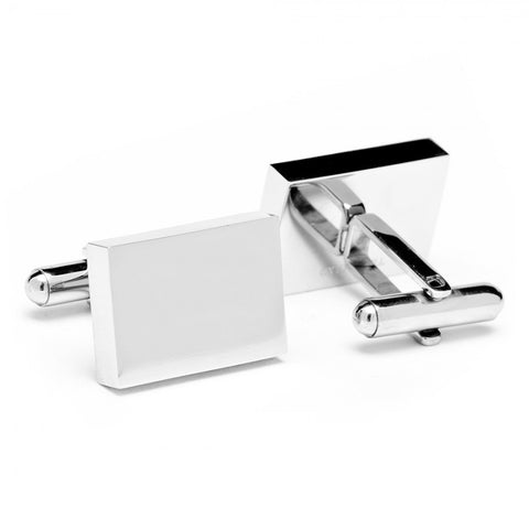 Stainless Steel Rectangle Infinity Cufflinks