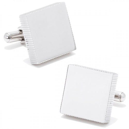 Stainless Steel Engravable Block Cufflinks