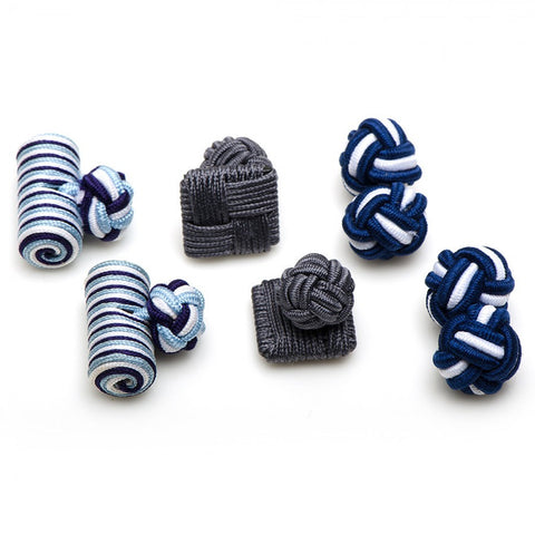 Bulldogs Silk Knot Combo Cufflinks