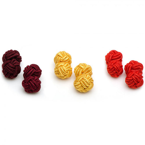 Autumn Silk Knot Cufflinks