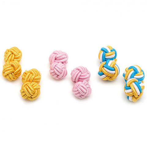 Basic Silk Knot Cufflinks
