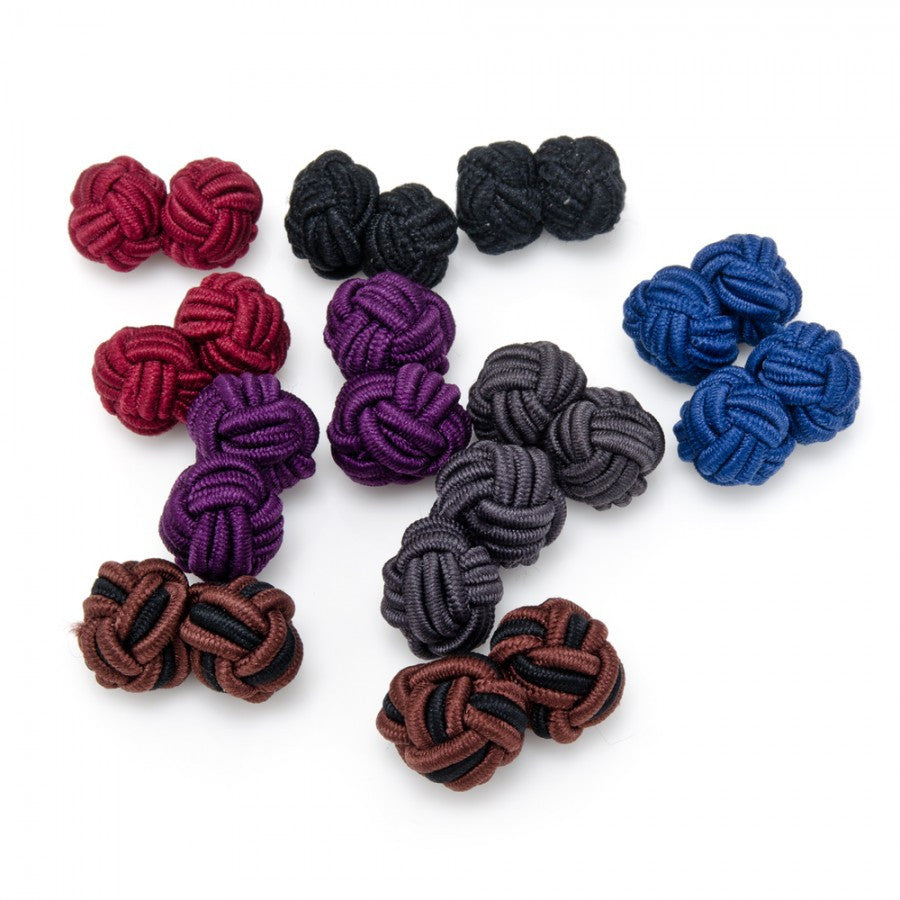 Bold Statement Silk Knot Cufflinks