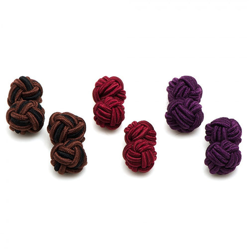 Crisp Fall Silk Knot Cufflinks