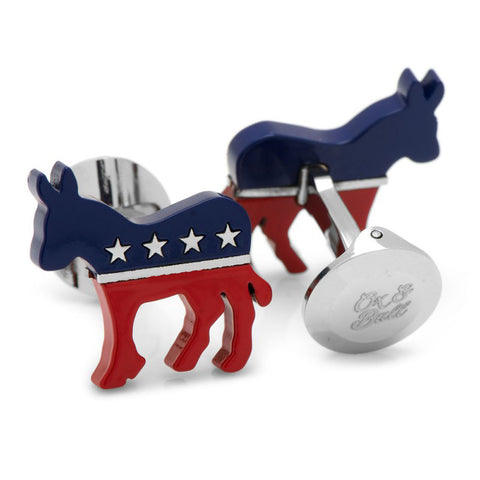 Stainless Steel Democratic Donkey Cufflinks