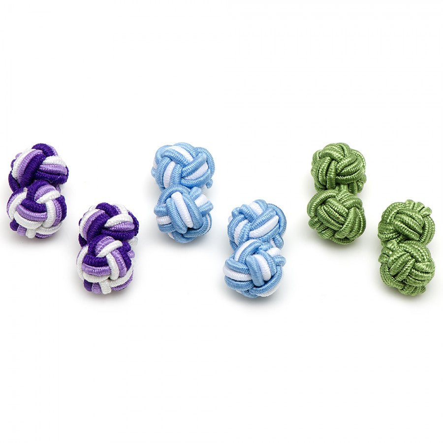 Spring Fever Silk Knot Cufflinks