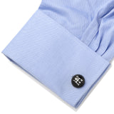 3D Black Gear Shifter Cufflinks