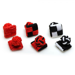 Bulldogs Silk Square Knot Cufflinks