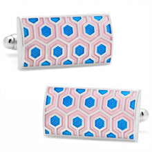 Pink and Blue Honeycomb Cufflinks