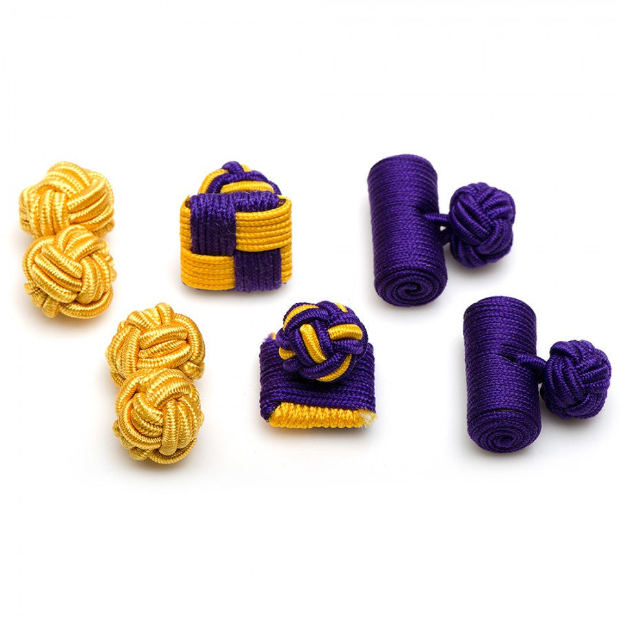 Tigers Silk Knot Combo Cufflinks