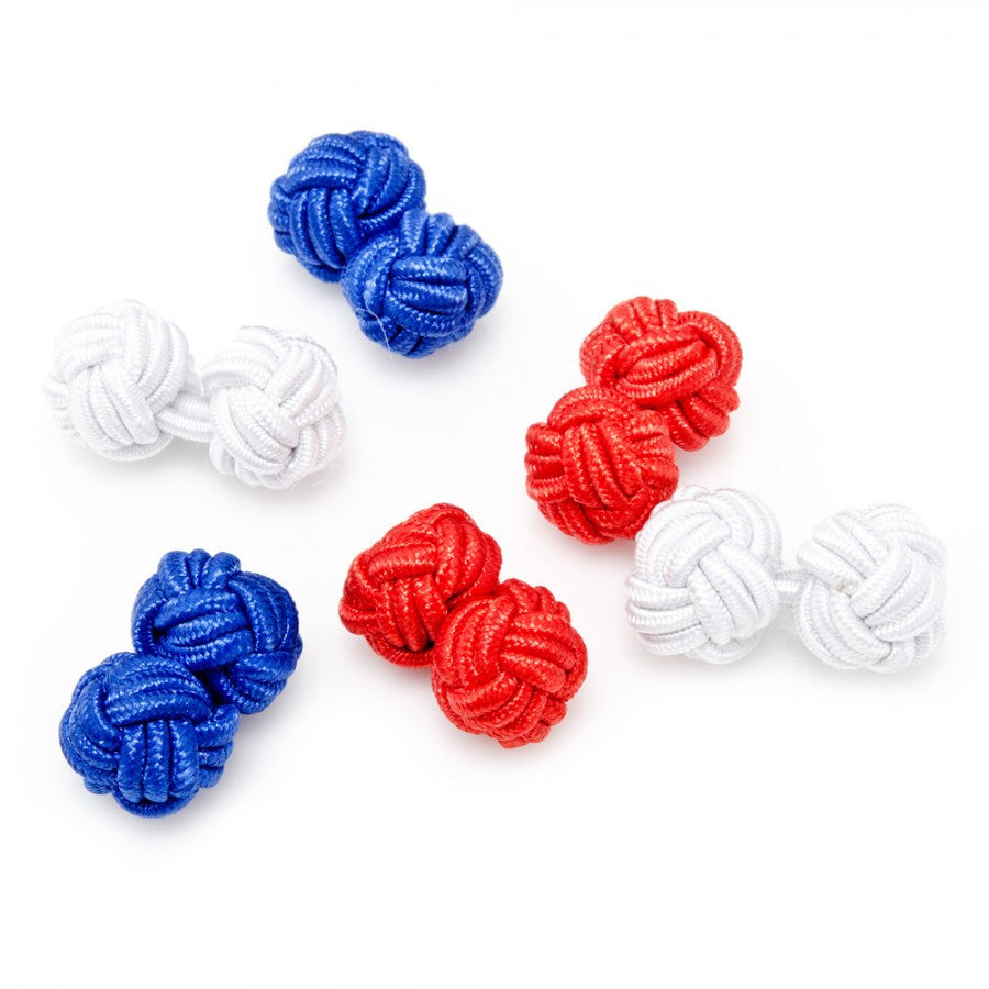 The Patriot Silk Knot Cufflinks