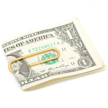 Gold Stainless Steel Paper Clip Money Clip