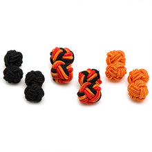 Pumpkin Silk Knot Cufflinks
