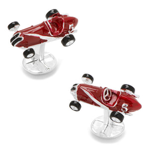 3D Vintage Race Car Cufflinks