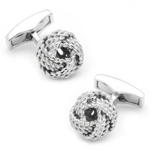 Sterling Rope Knot Cufflinks