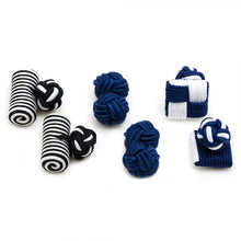 Sailor Silk Knot Combo Cufflinks