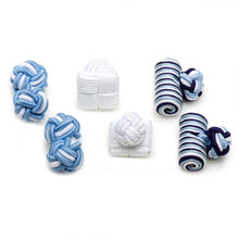 See the Sea Silk Knot Combo Cufflinks
