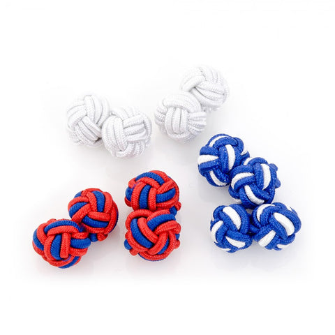 Star Spangled Silk Knot Cufflinks