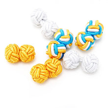 Ocean Breeze Silk Knot Cufflinks