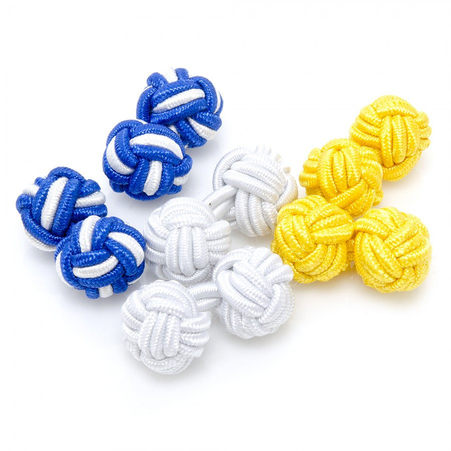 Lemon Water Silk Knot Cufflinks
