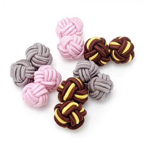 Busy Bee Silk Knot Cufflinks