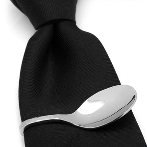 Stainless Steel Pebble Spoon Tie Clip