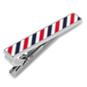 Varsity Stripes Red, Navy, and White Tie Clip