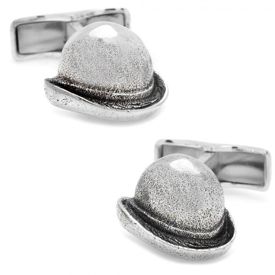 Just Call Me Charlie Sterling Bowler Cufflinks